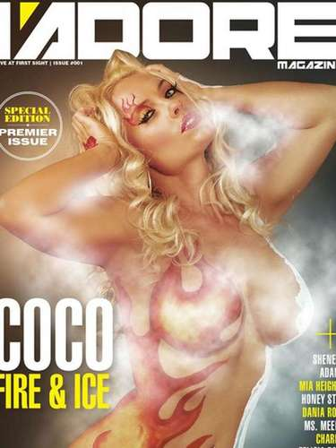 Coco Austin también aprovecha su cuenta para mostrar las portadas de revista en las que aparece.