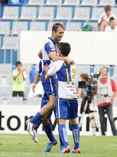 Aníbal Zurdo marcó el primer tanto en el triunfo (4-3) del Sabadell sobre Sporting de Gijón; no obstante, salió expulsado al 57'.