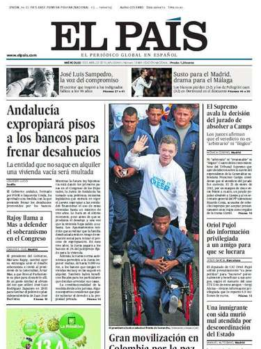 'El País' destaca la decisión de la Junta de expropiar pisos a los bancos para frenar los desahucios
