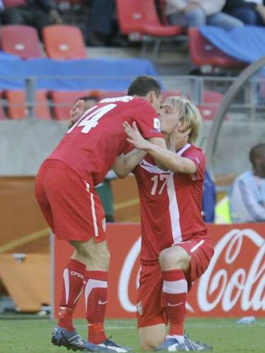 Even the 2010 South Africa World Cup had its 'on field romance' between Serbian players Milan Jovanovic and Milos Krasic as they celebrated their goal against Germany in the Group Stage.