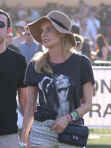 Diane Kruger, una de las más estilosas en este desfile de celebs y estilismos que es Coachella.