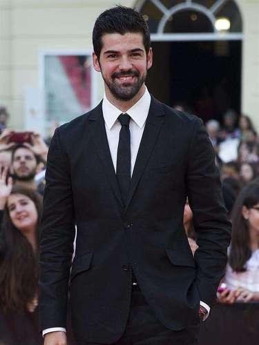 El actor Miguel Ángel Muñoz llegaba sonriente.
