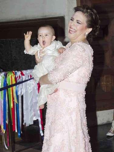 Vale eligió la Basílica de Guadalupe para presentar a su hija en la celebración religiosa.