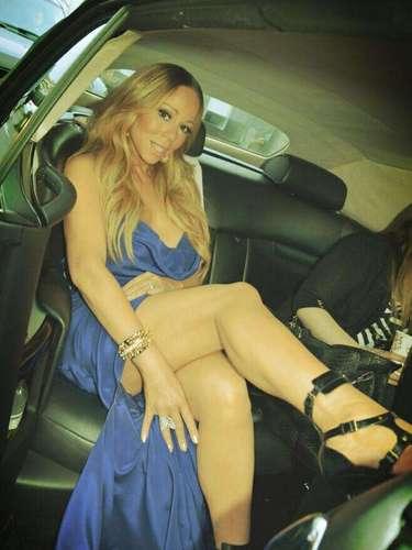 Mariah Carey presume de sus piernas y limosina.