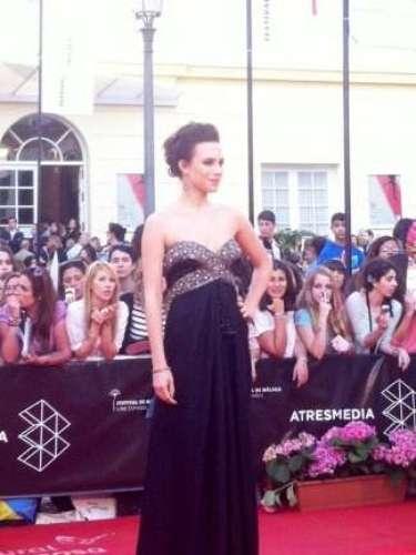 La actriz Aura Garrido brillante en la gala de clausura del Festival de Málaga.