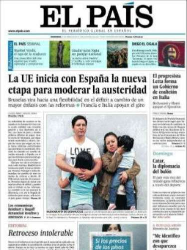 'El País' abre con: '\