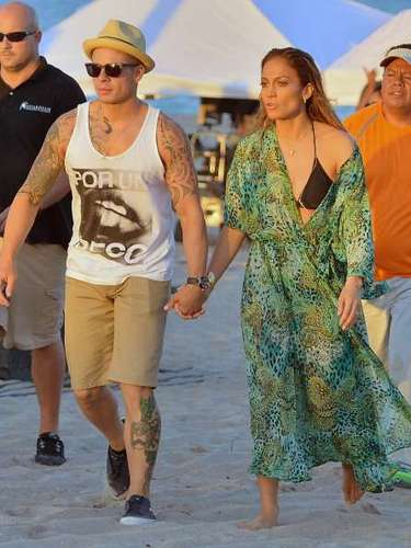 La pareja de Jennifer, Casper Smart la apoyó durante todo el proceso de grabación.