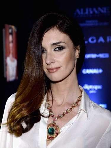 La actriz española Paz Vega lució una sofisticada gargantilla Bulgari.