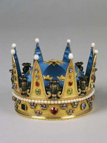Detalle de la corona que presidirá la ceremonia.