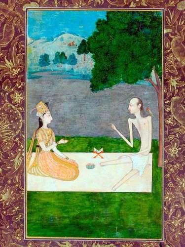 La muestra consta de 104 magníficas ilustraciones en pequeño formato creadas en la India entre los siglos XII al XIX con motivos religiosos, épicos, costumbristas y naturalistas.