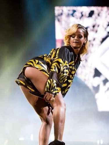 Rihanna dejó ver en un buen ángulo sus \