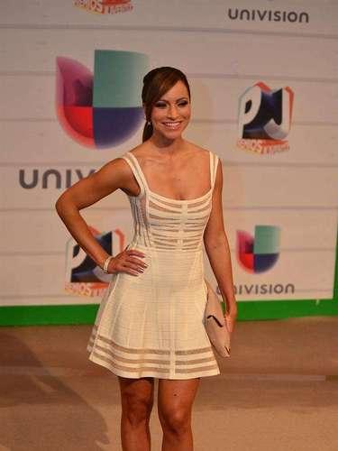 La periodista Satcha Pretto dejó la seriedad en casa y sacó a relucir su lado más alivianado para divertirse en los Premios Juventud 2013