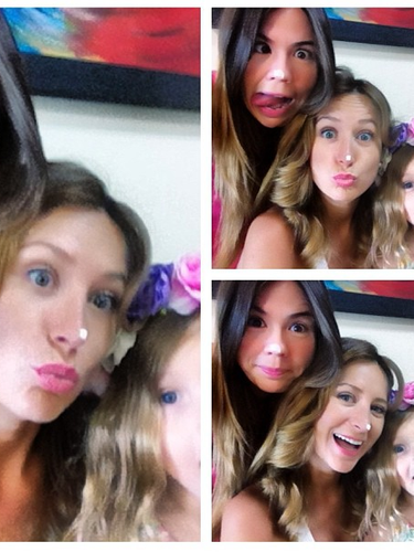 22 de Julio - Geraldine Bazán no deja de divertirse al lado de su pequeña hija y sus amistades y todo lo plasma a través de su Instagram donde se le ve a la bella actriz haciendo caras graciosas.