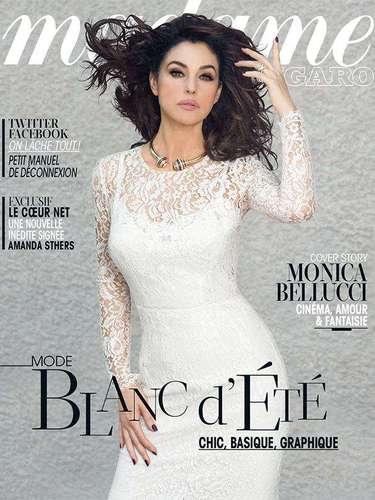 1 de Agosto -La siempre hermosa y sexy Monica Belucci engalana con su personalidad la portada de la revista francesa Madame Figaro donde posa como una verdadera 'diosa'