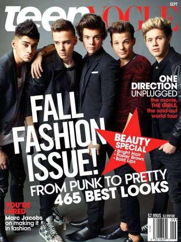1 de Agosto -La euforia por el grupo 'One Direction' sigue a mil por hora. Los chicos ingleses posaron de lo más sexies, conquistadores y rompecorazones en la revista Teen Vogue.