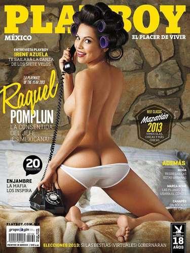 1 de Agosto -Raquel Pomplun, la primera latina en ser elegida como la playmate del año (2013) en Playboy USA, se dió una vuelta por la tierra de sus ancestros para hacer una portada tan candente y provocativa que se augura romperá récords de ventas en México.