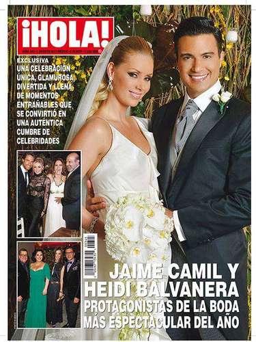 1 de Agosto - Fue anunciada, esperada y por fín revelada. La boda de la ex modelo mexicana Heidi Balvanera y el actor Jaime Camil ha sido catalogada como \
