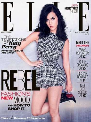 1 de Agosto -Recientemente Katy Perry dijo que tuvo que dejar el alcohol y la cafeía cuando posó para la revista Vogue. En esta ocasión, la cantante posó para la revista Elle donde habló de sus 'hombres' como John Mayer, Russell Brand y ¡Robert Pattinson!. ¿Esta vez qué habrá dejado?