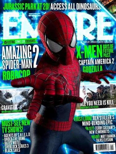 1 de Agosto -La revista especializada en cine, Empire, ha lanzado su nuevo número dedicado a las próximas películas que prometen ser un éxito en taquilla destacando la segunda parte de 'The Amazing Spider-Man'