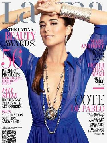 8 de Agosto - Cote de Pablo adorna la portada de la revista Latina que le hace un completo reportaje sobre el trabajo de la actriz y de cómo conquistó Hollywood.