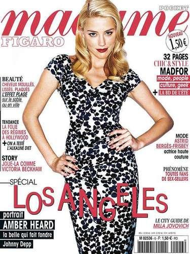 8 de Agosto - La bella Amber Heard posó de manera sexy y traviesa en Madame Figaro. La novia de Johnny Depp habló de cómo es su vida en Hollywood pero más que nada, de su relación con uno de los hombres más asdiados por todas las mujeres. ¡Suertuda!