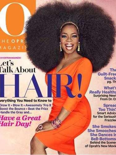 8 de Agosto - Holy hair! ¿Es un león? ¡No, es Oprah! La celebridad ahora sí que nos impactó y no fue por alguna entrevista o las revelaciones que Lindsay Lohan le hizo. La poderosa Winfrey posó (como en todas sus ediciones) en su revista donde aparece con tremenda cabellera que hasta la mismísima Donna Summer le envidiaría en la edición que le dedicanal...¿cabello?. Ok, es su revista y ella puede hacer lo que quiera....