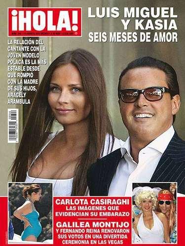 8 de Agosto - Un Luis Miguel más 'rellenito' (no le decimos gordo para que no se enojen con nosotros) vive a plenitud sus seis meses de relación con Kasia,la hermosa mujer de origenpolaco que le arrebató el amor de 'El Sol' a Aracely Arámbula.