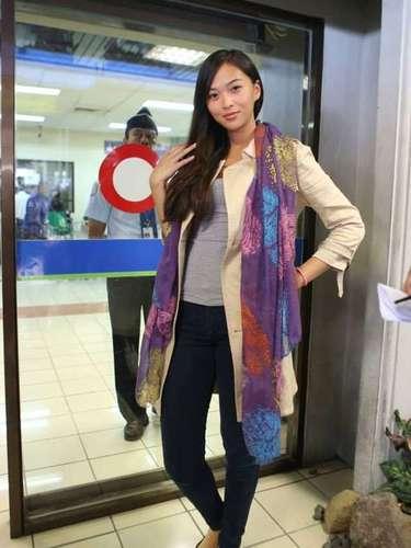 Miss China Taipei conquistando a las cámaras desde el principio.