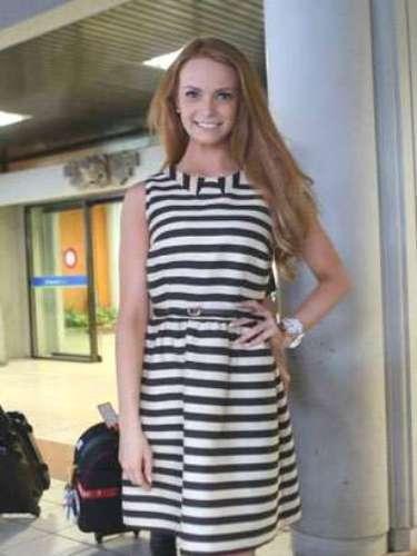 Miss Irlanda, desde su llegada toda una muestra de belleza, elegancia y glamour.