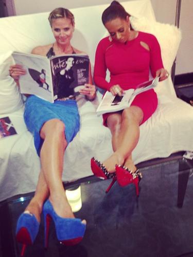 11 de Septiembre - Heidi Klum y Mel B se han hecho amigas inseparables desde que las dos son jueces en America's Got Talent. Las dos bellezas aprovechan el tiempo que tienen libre para convivir y pasársela muy bien