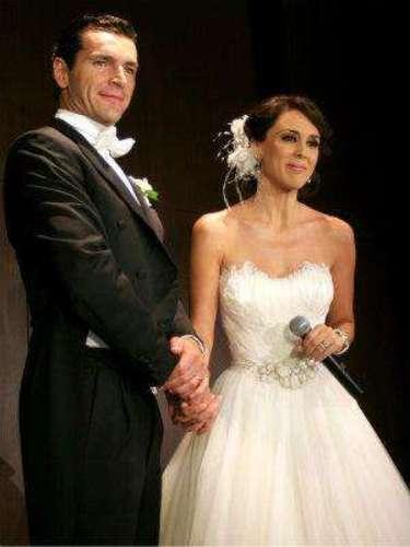 Este fue uno de los tres trajes de novia que lució la protagonista de la telenovela \