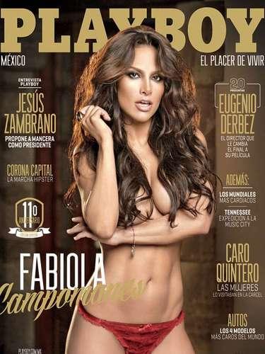 Fabiola Campomanes regresa en octubre de 2013 a la portada de Playboy, en donde muestra más erotismo para dejar un número de colección en el que la actriz asegura es su último desnudo para una revista masculina.