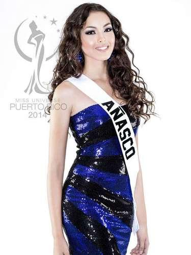 Miss Añasco - Stephanie Soto Ríos. Tiene 17 de edad, mide 1.75 metros de estatura (5 ft 9 in) y procede de Bayamón.