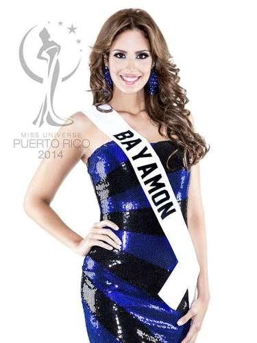 Miss Bayamón - Aleyda Enid Ortiz Rodríguez. Tiene 24 años de edad, mide 1.79 metros de estatura (5 ft 10 12 in) y procede de Bayamón.