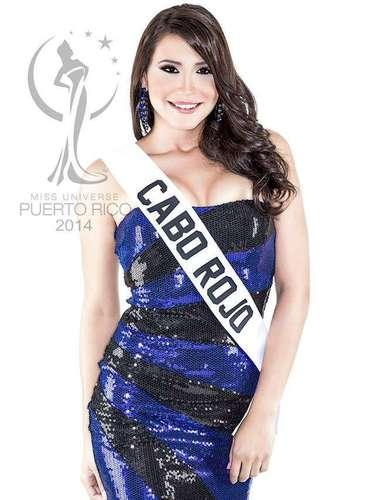 Miss Cabo Rojo - Zamira Mendoza Morales. Tiene 20 años de edad mide 1.74 metros de estatura (5 ft 8 12 in) y procede de Cabo Rojo.
