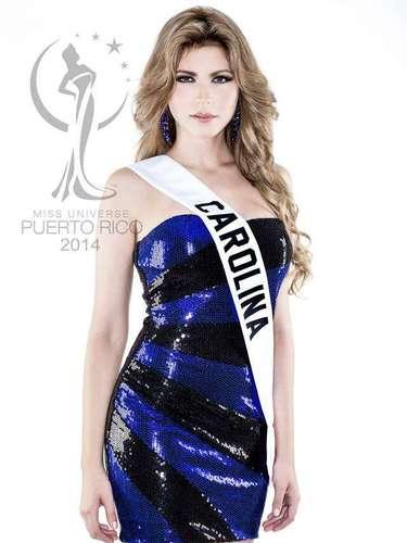 Miss Carolina - Linoshka Marlene Castro González. Tiene 22 años de edad, mide 1.70 metros de estatura (5 ft 7 in) y procede de Carolina.