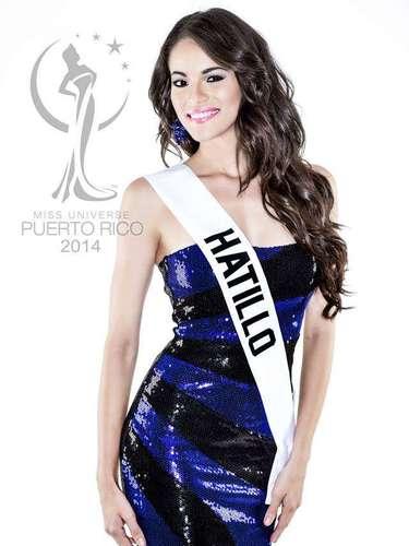 Miss Hatillo - Carla Michelle Harrison Canals. Tiene 25 años de edad, mide 1.70 metros de estatura (5 ft 7 in) y procede de San Juan