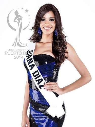 Miss Juana Díaz - Alexandra Porrata Montalvo. Tiene 19 años de edad, mide 1.83 metros de estatura(6 ft 0 in) y procede de Juana Díaz.