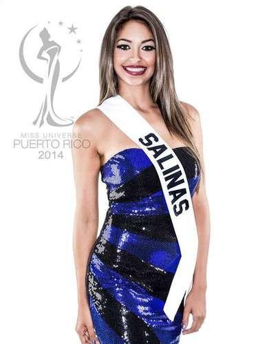 Miss Salinas - Natacha Marie Romero Correa. Tiene 19 años de edad, mide 1.70 metros de estatura (5 ft 7 in) y procede de Salinas