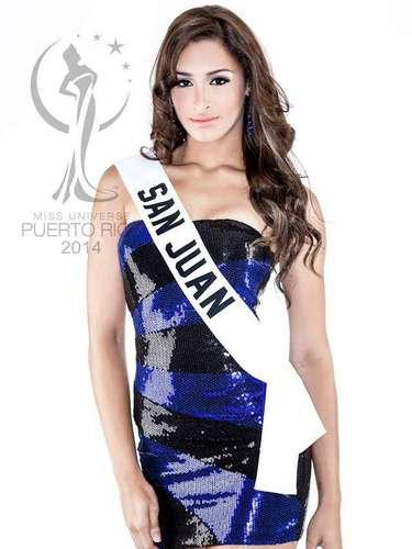 Miss San Juan - Larissa Dones Rosario. Tiene 17 años de edad, mide 1.80 metros de estatura (5 ft 11 in) y procede de San Juan.
