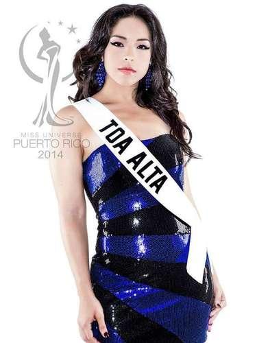 Miss Toa Alta - Ethelin Tort Santiago. Tiene 25 años de edad, mide 1.68 metros de estatura (5 ft 6 in) y procede de Mayagüez.