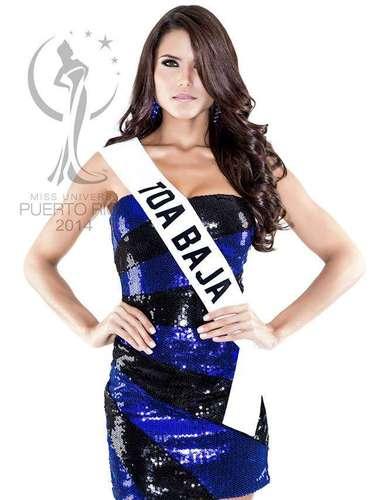Miss Toa Baja - Gabriela Berríos Pagán. Tiene 22 años de edad, mide 1.77 metros de estatura (5 ft 9 12 in) y procede de San Juan.