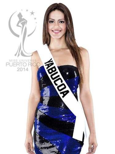 Miss Yabucoa - Tershya Marie Soto Morales. Tiene 21 años de edad, mide 1.74 metros de estatura (5 ft 8 12 in) y procede de Yabucoa.