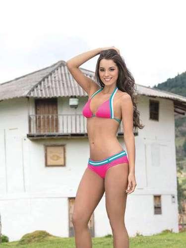 Señorita Risaralda. María Alejandra López Pérez. Sus medidas: Busto: 90, cintura: 61, cadera: 93. Estatura: 1,76.