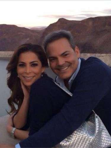 Lourdes Stephen y su esposo compartieron un momento romántico al crear memorias juntos en el Hoover Dam.