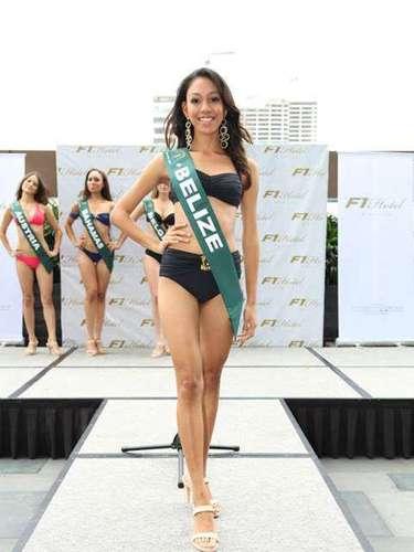 Miss Bélice - Amber Rivero, tiene 21 años de edad, mide 1.65 metros de estura (5 ft 5 in)y reside en Ciudad de Bélice.