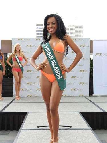 Miss Islas Vírgenes de Estados Unidos -Vanessa Donastorg, tiene 24 años de edad, mide 1.70 metros de estura (5 ft 7 in)y reside en Saint Thomas.