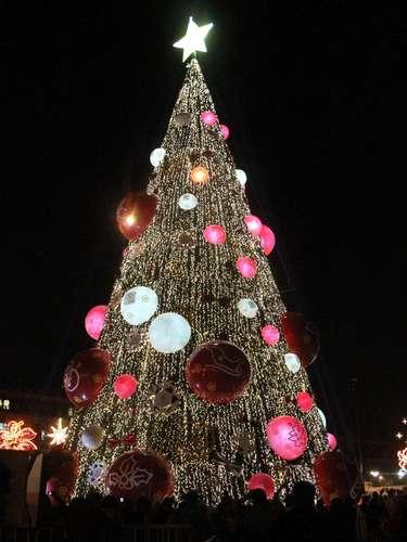 Autoridades capitalinas iniciaron esta noche en el Zócalo capitalino las actividades relacionadas con las fiestas decembrinas 2013.