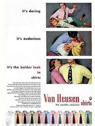 Una manera muy particular de vender camisas Van Heusen.