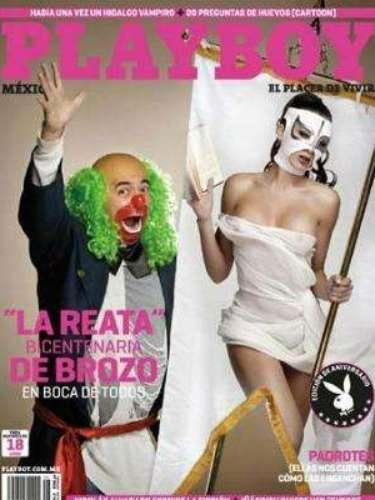 La Reata de Brozo.-Aunque era un personaje que no tenía mucha relevancia, se convirtió en toda una celebridad al posar despojada de sus vestiduras en la edición de octubre 2010 de la revista.
